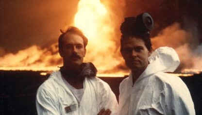 Sampling oil fire pollution during the Gulf War