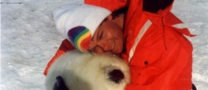 Michael with Harp Seal-1